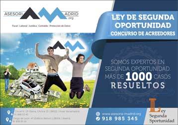 Ley de la segunda oportunidad en Madrid Asesoría Madrid
